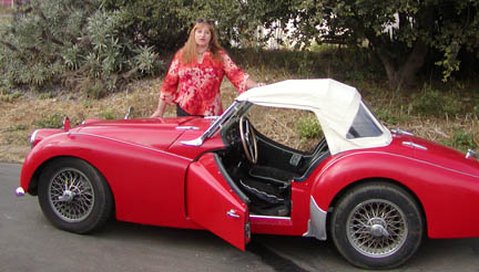 Standing by Triumph TR3A